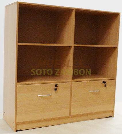 Estante-Biblioteca-2-Cajones-chapa